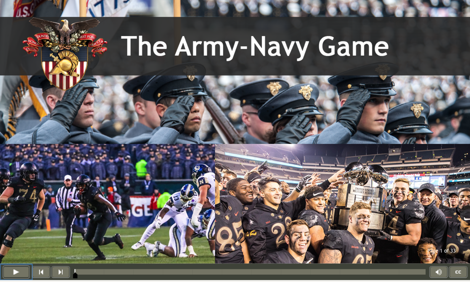 Start page for The Army-Navy Game