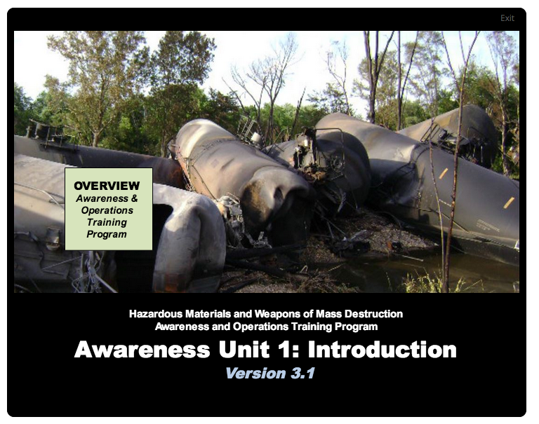 Start page for Unit 1: Awareness